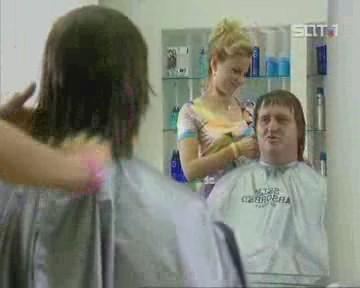 Chez la coiffeuse